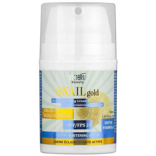Crema cu Efect de Albire cu SPF25 - Extract de Melc si Ulei de Argan Camco Snail Gold - 50ml