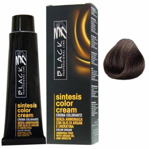 Vopsea Crema Demi-permanenta - Black Professional Line Sintesis Color Cream - nuanta 40 Medium Brown - 100ml